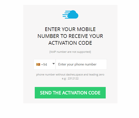 Step 3: enter your phone number