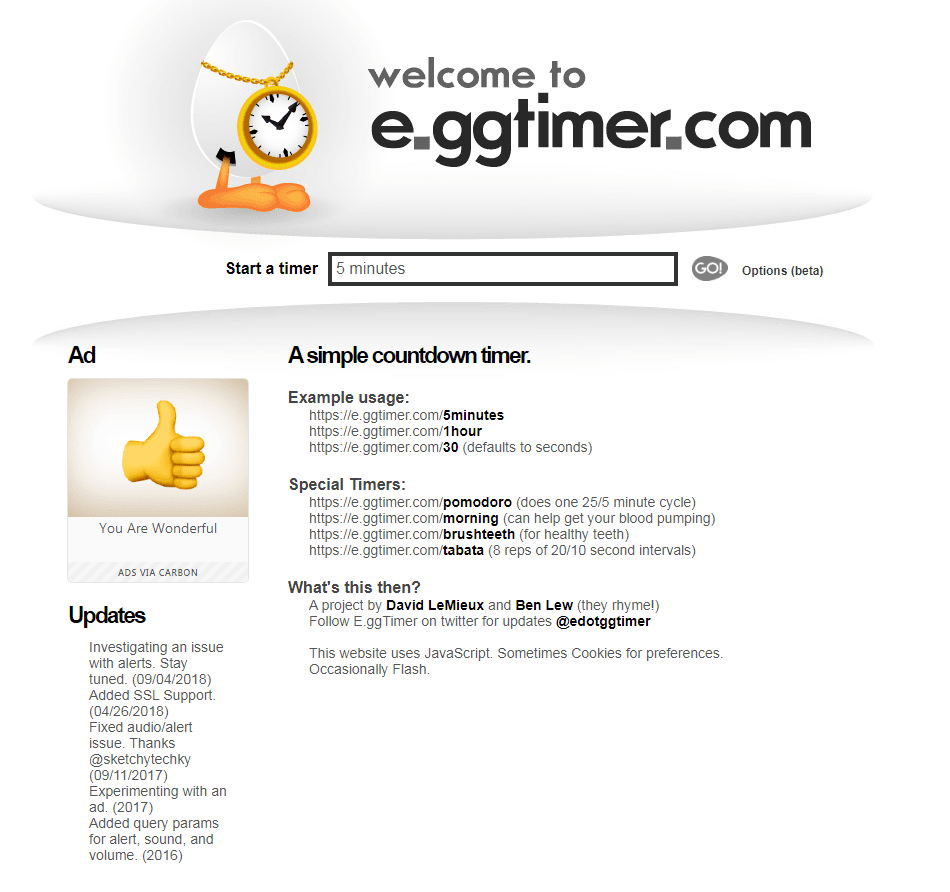 Eggtimer- a simple tool to help you track your time better