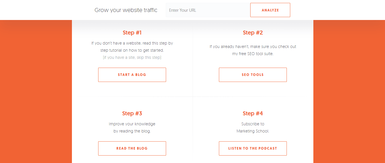 Example of buttons on a wordpress blog