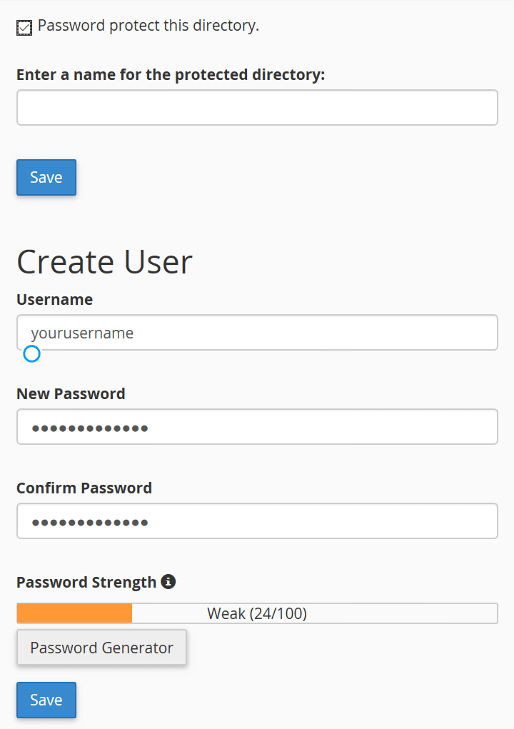 Secure WP admin with password