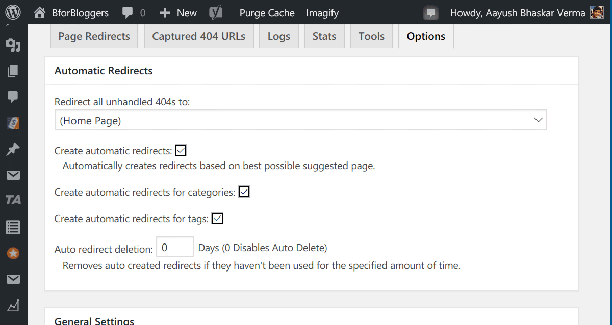 Change settings of 404 solution to automate redirection