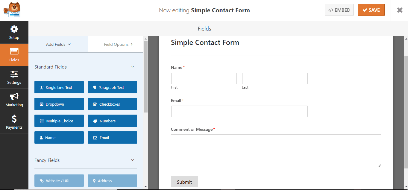 step 2, add the required fields